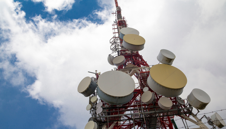 The image shows impact of Corona Lockdown on Telecommunications Sector