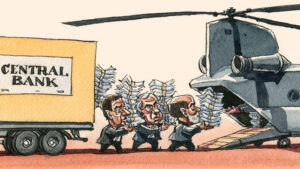 Central Bank Helicopter money