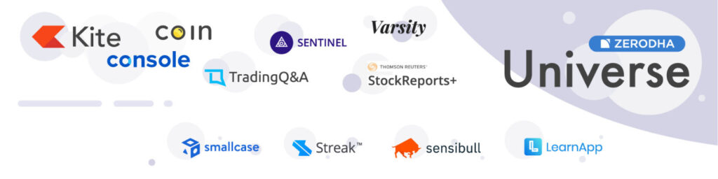 Technology – Investments · Kite · Console · Coin · Kite Connect API · Varsity mobile · Sentinel ·etcc
