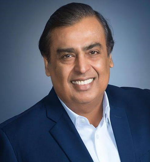 It is an image of MUKESH AMBANI, owner of Reliance Industries which bought NETMEDS- INDIA KI PHARMACY