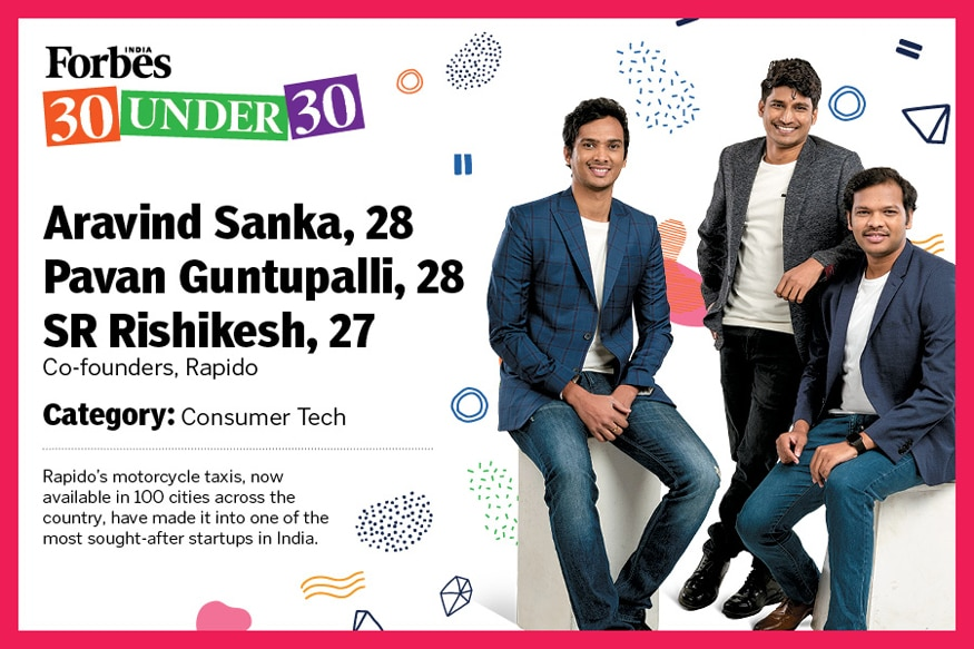Founders are in Forbes list-RAPIDO THE TWO WHEELER CAB