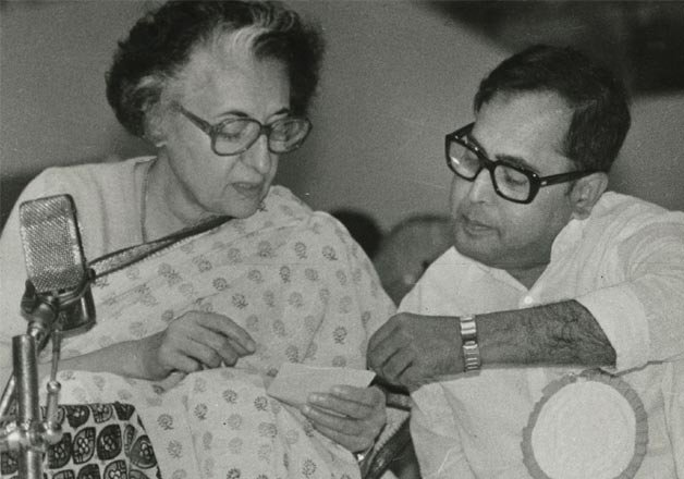 Pranab Mukherjee with Indira Gandhi