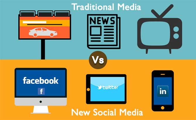 Tradition media vs social media picture