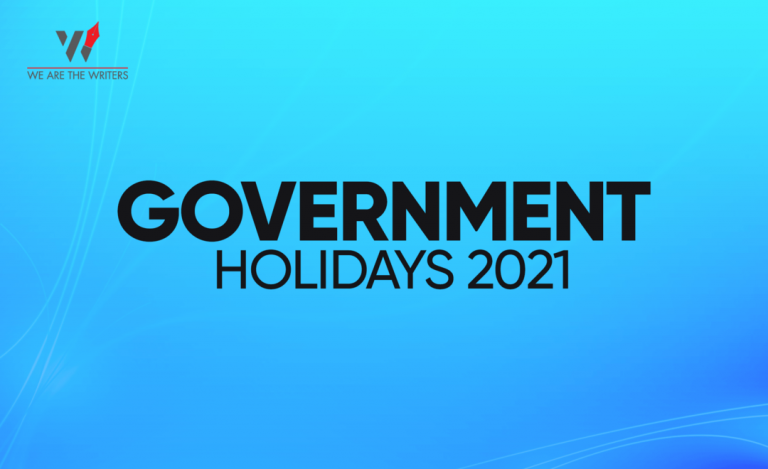Government Holidays 2021