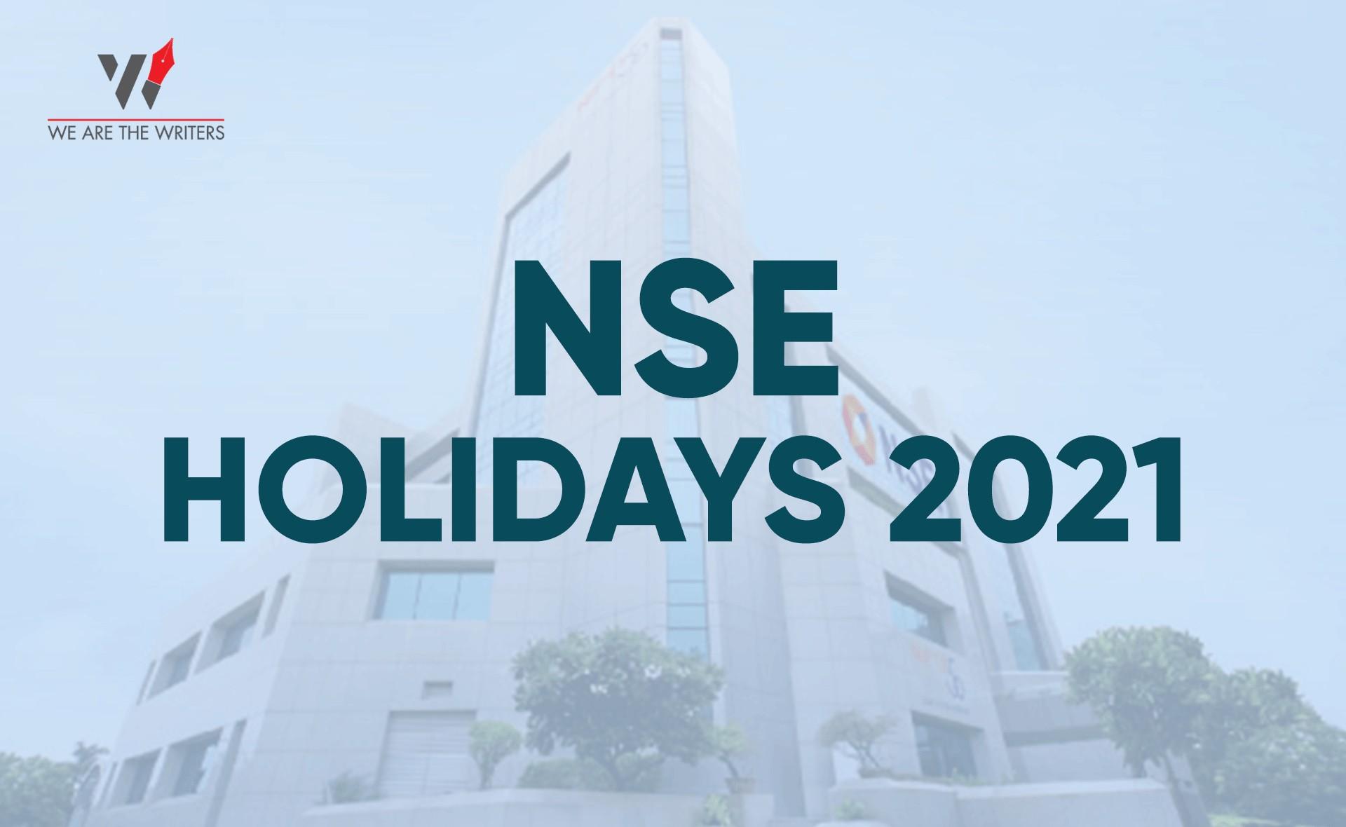 List of NSE Holidays 2021