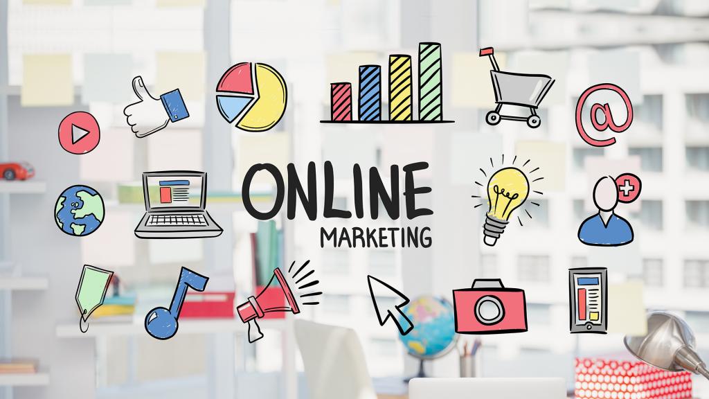 Online marketing infographic