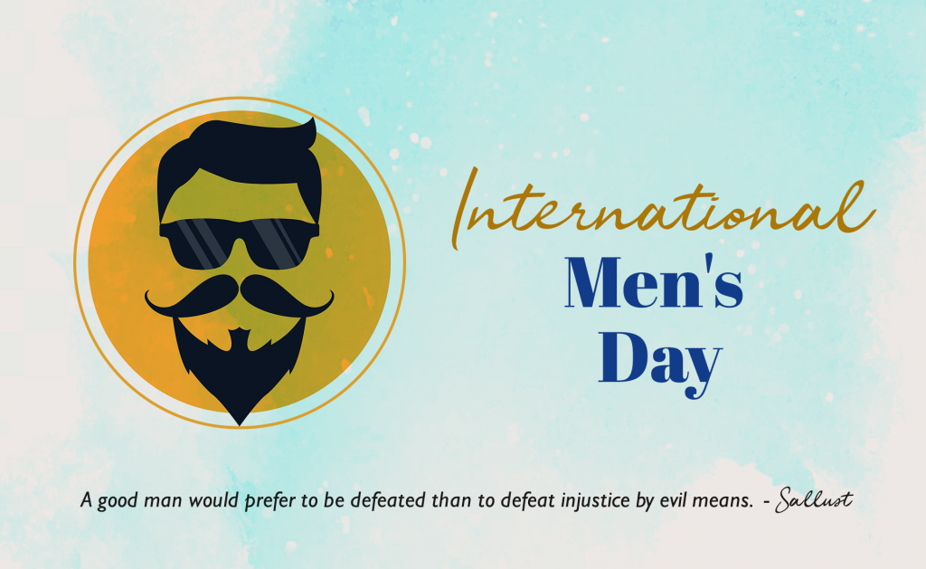 Image focuses on International Men's Day 2020