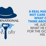 Image shows International Men's Day 2020