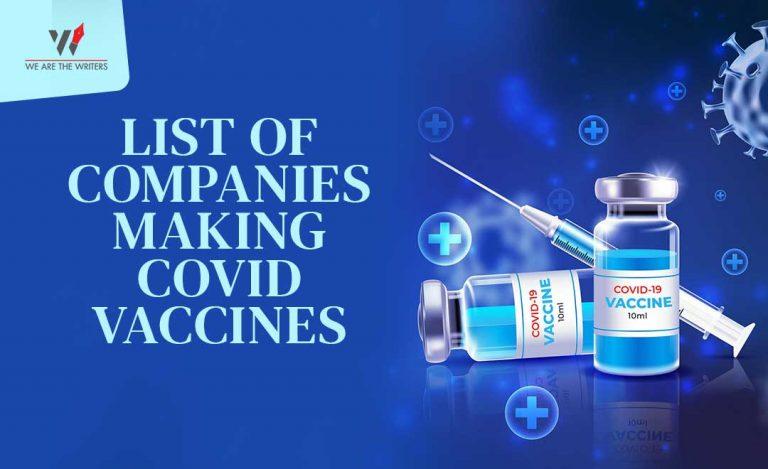 Companies making Covid Vaccines