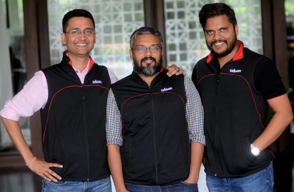 UDAAN founders Amod Malviya, Vaibhav Gupta, and Sujeet Kumar, Indian StartUp