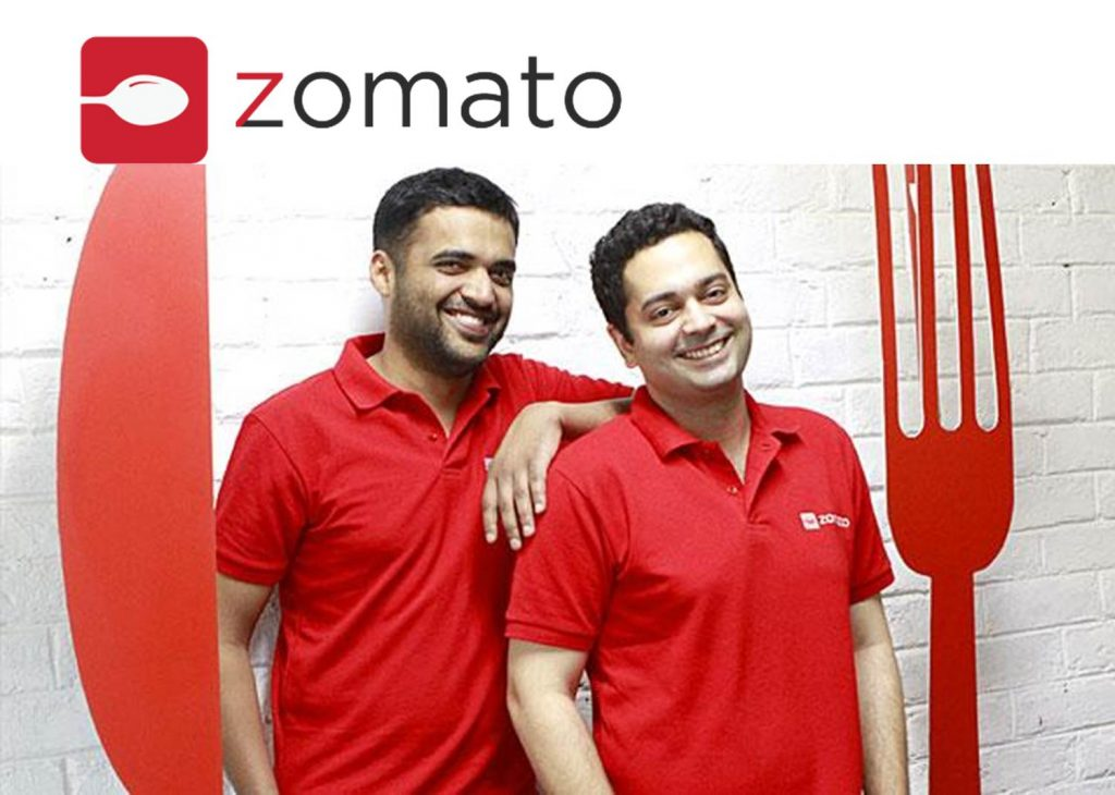 ZOMATO founders Deepinder Goyal and Pankaj Chaddah, UNICORN STARTUPS OF INDIA