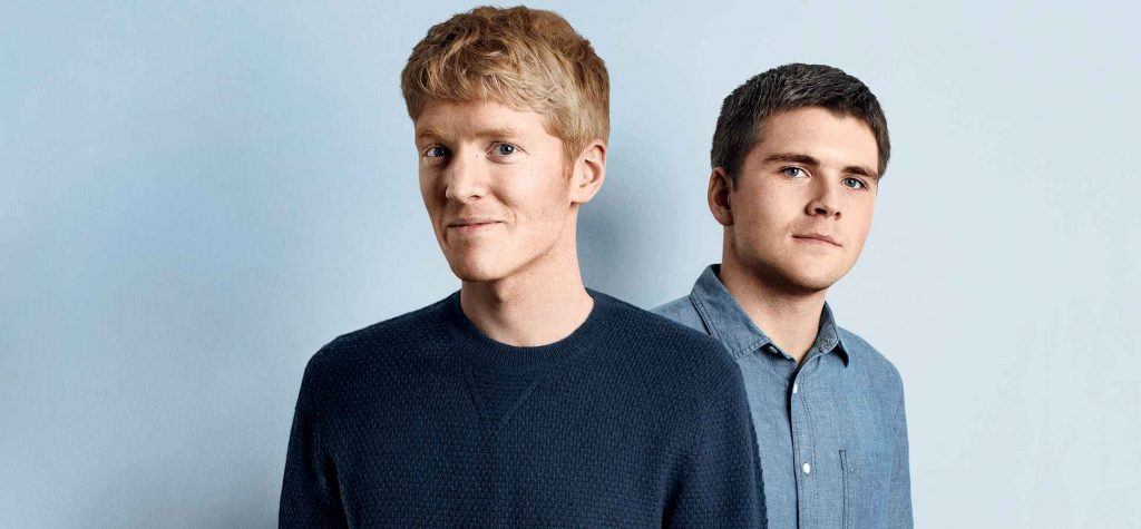 Founders of Stripe Patrick Collison and John Collison, UNICORN STARTUP
