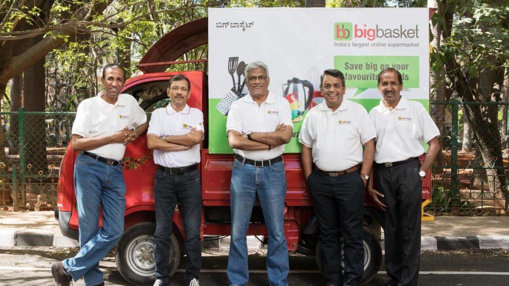 BIGBASKET founders V S Sudhakar, Hari Menon, Vipul Parekh, Abhinay Choudhari and V S Ramesh, Indian StartUp
