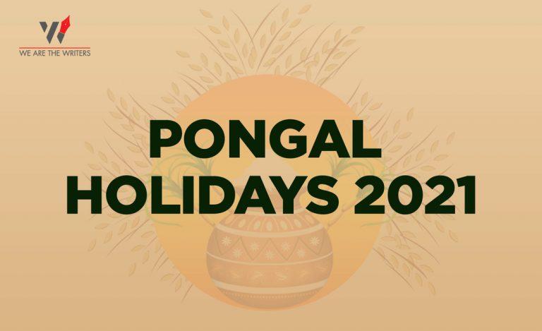 Pongal Holidays 2021