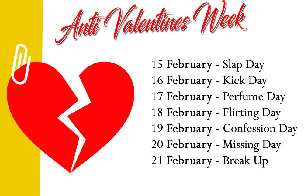 Days of the Anti Valentines Week 2021