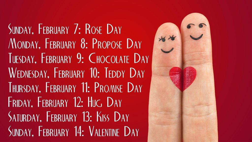 Days of the Valentines Week 2021
