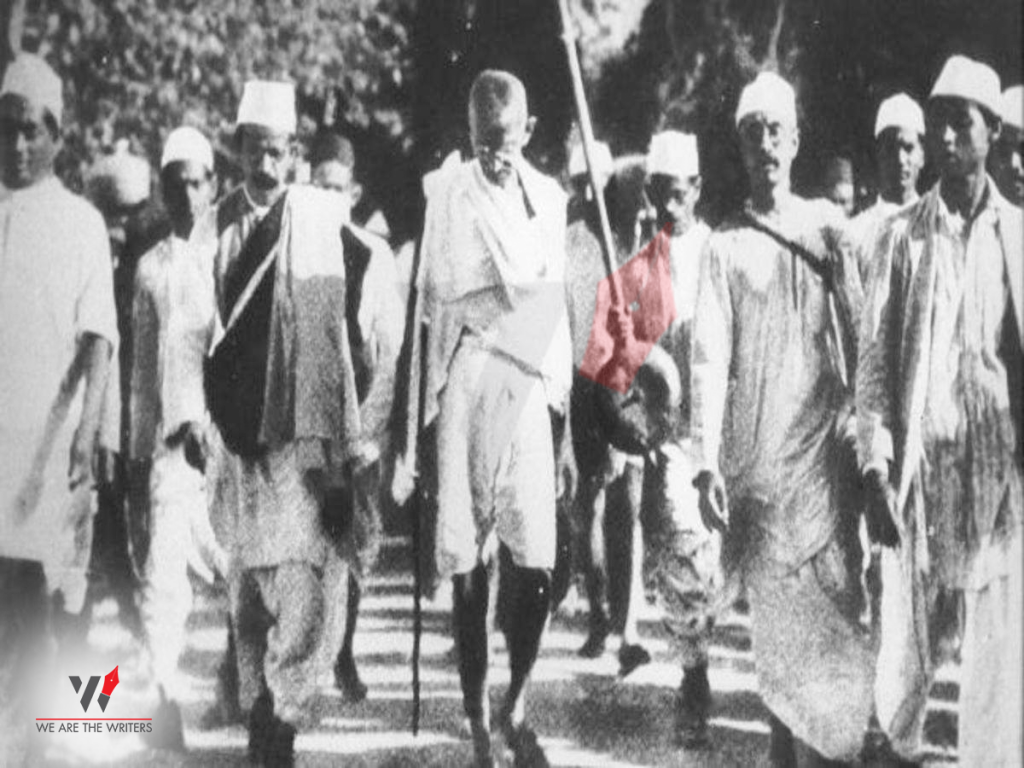 Mahatma Gandhi during Dandi March
