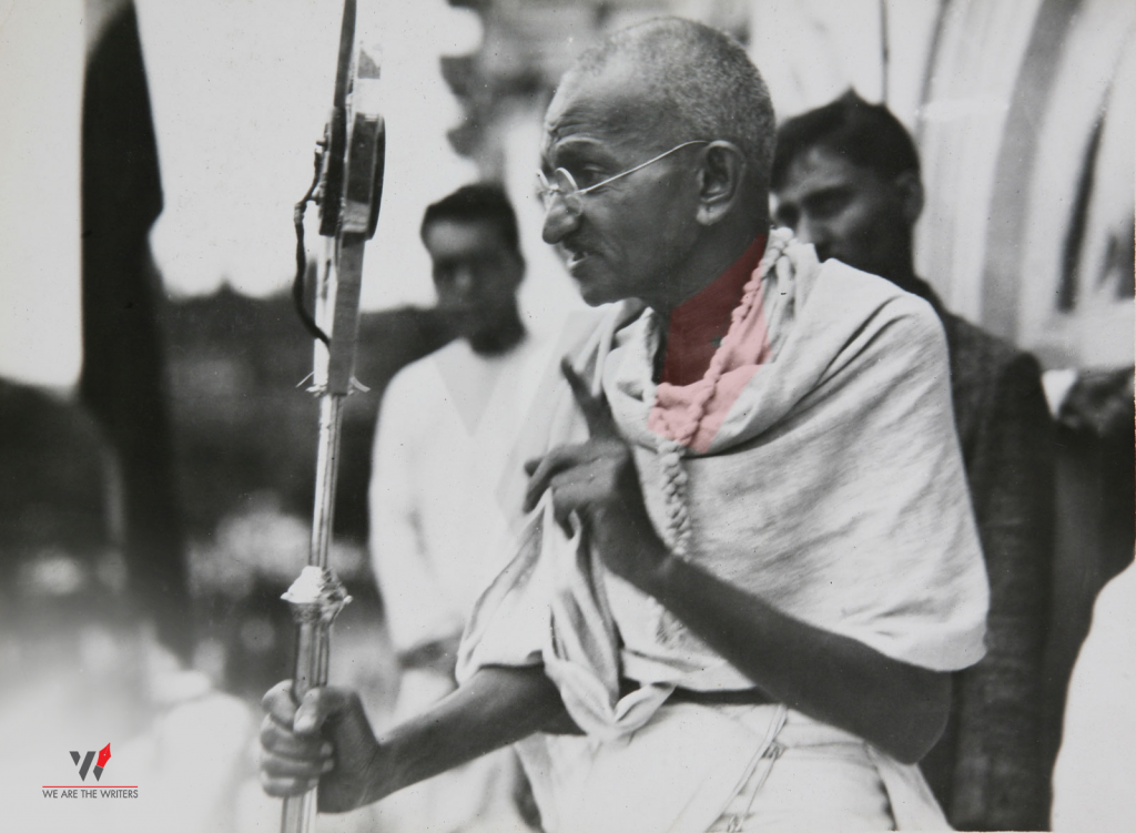 Mahatma Gandhi during Quit India Movement