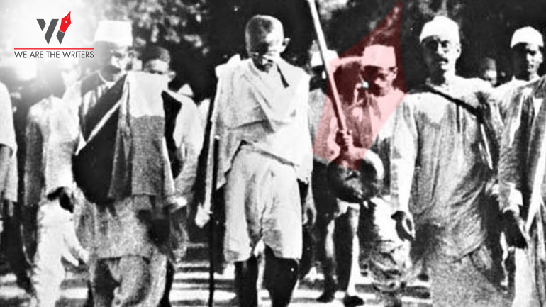 Mahatma Gandhi during Non Cooperation Movement
