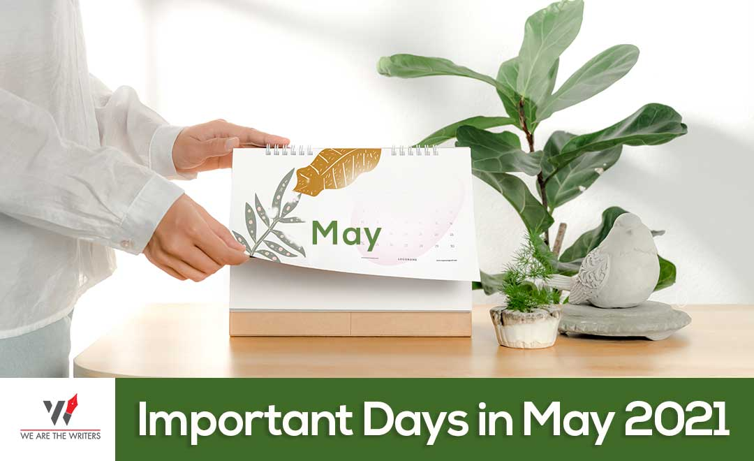 Important Days in May 2021, Holidays in May 2021