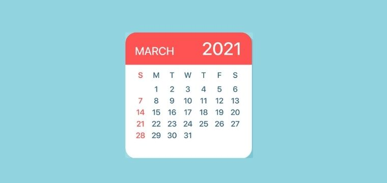 Important Days in March 2021