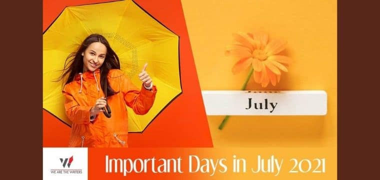 Important Days in July 2021