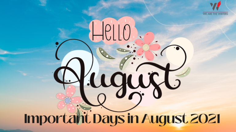 Important Days in August 2021