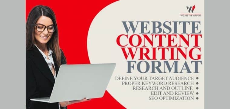 Website Content Writing Format