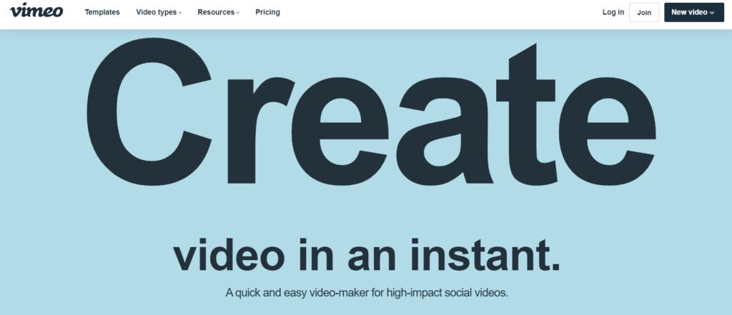 video marketing tools- Vimeo